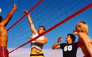 Игры на пляже — бич волей