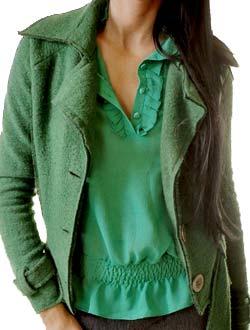Жакет зеленый