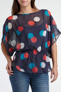 Описание: Блузка в горох размер 52 рост 164. . Одежда, обувь и... Добавил(а): Аза